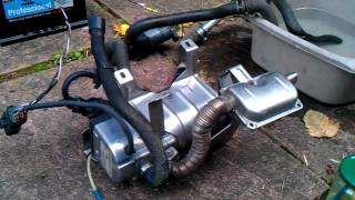 Eberspacher Hydronic Diesel Water Heater Boat,Camper, Van D5wz Bench Testing.09/2011