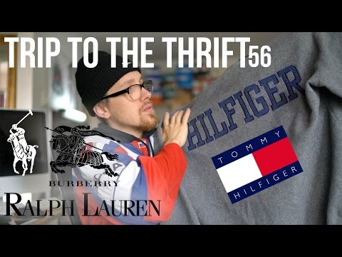 Burberry, Tommy Hilfiger, & Ralph Lauren found IN THE THRIFT | TRIP TO THE THRIFT 56