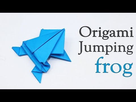 Origami jumping Frog | How to Make a Paper Jumping Frog | Easy Paper Origami