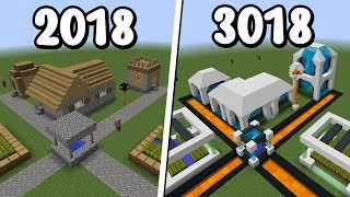 COMO SERÁ A VILA DO MINECRAFT 1000 ANOS NO FUTURO?