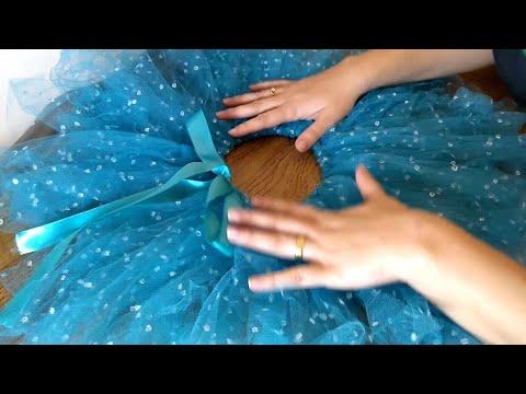 d5006fdf53d8 Como fazer saia de tule da Frozen (DIY) - YouTube