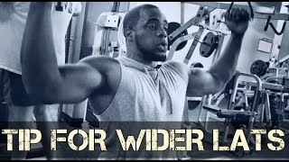 Simple Tip For Wider Lats