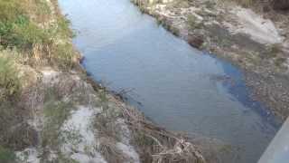 Santa Ana River Between Riverside and Jurupa Valley California