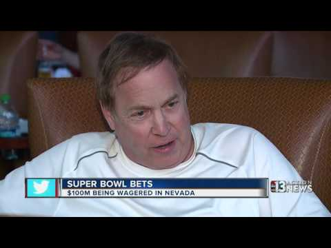 $100 million wagered on the Super Bowl in Nevada