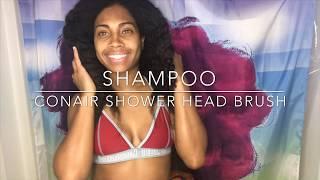 CONAIR | Shower Head Detangling Brush | Type 4 Long Thick Natural Hair | Review