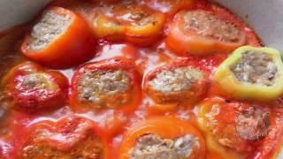 Фаршированные перцы и другие овощи и фрукты