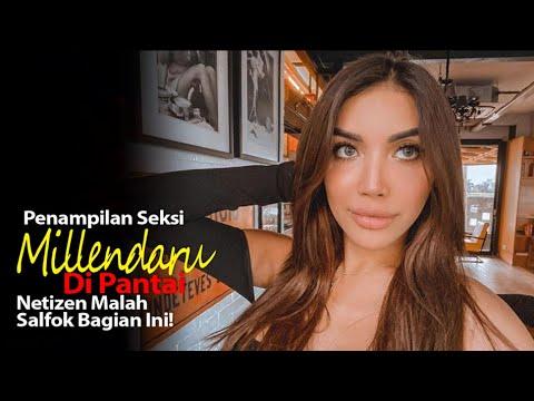 Penampilan Seksi Millendaru Di Pantai, Netizen Malah Salfok Bagian Ini!