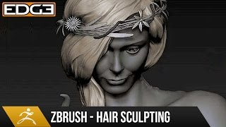 how to sculpt hair in zbrush tutorial hd
