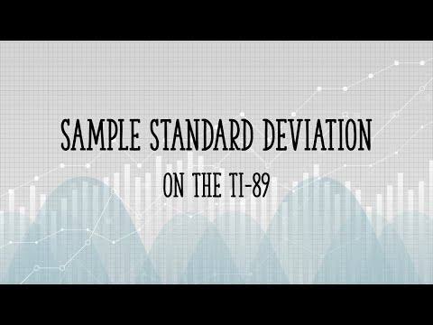 Sample Standard Deviation on the TI89