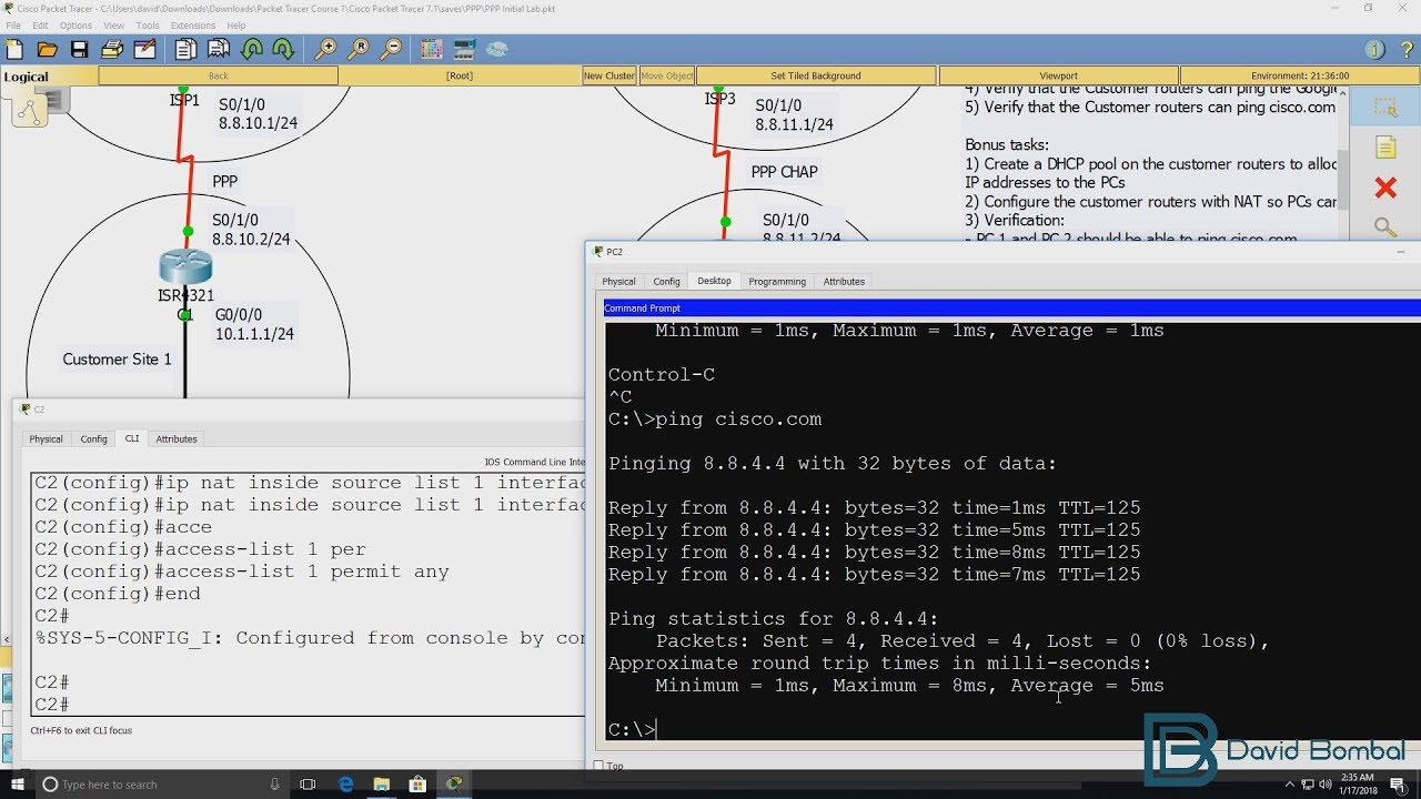 Cisco CCNA Packet Tracer Ultimate labs: PPP & PPP CHAP