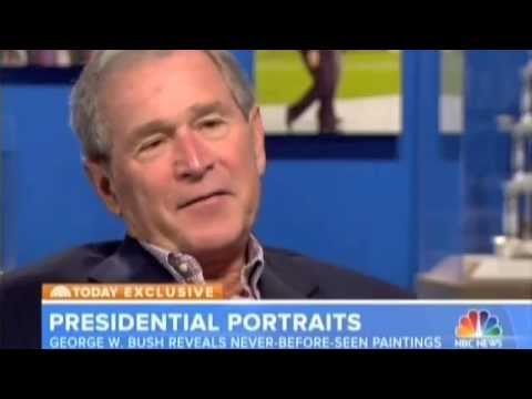 George W. BUSH reveals never-before-seen Paintings