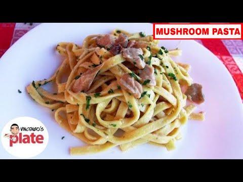 CREAMY MUSHROOM PASTA RECIPE | How to Make Tagliatelle ai Funghi Porcini