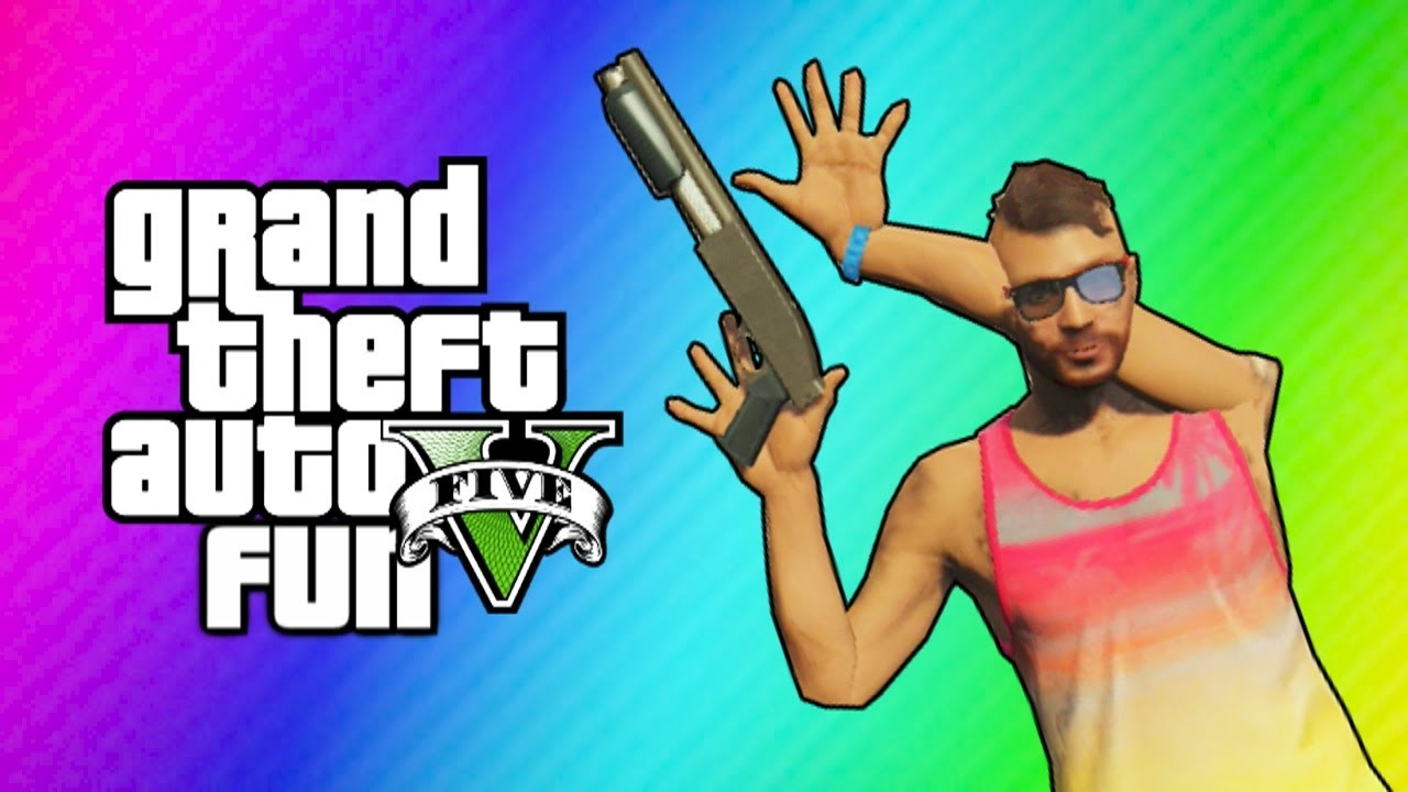 GTA 5 Online Funny Moments - Imaginary Posters & Animation Glitch ...