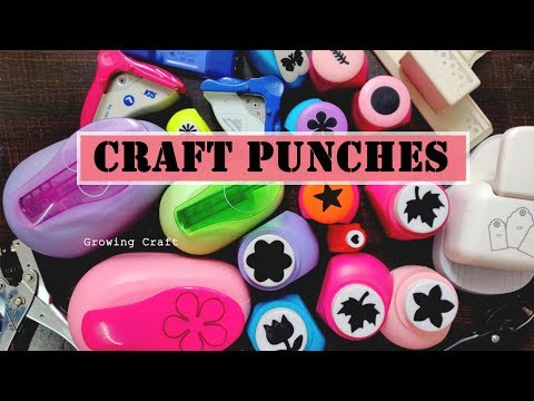 craft punch - paper craft - how to use paper punches - diy craft ideas - craft supply haul