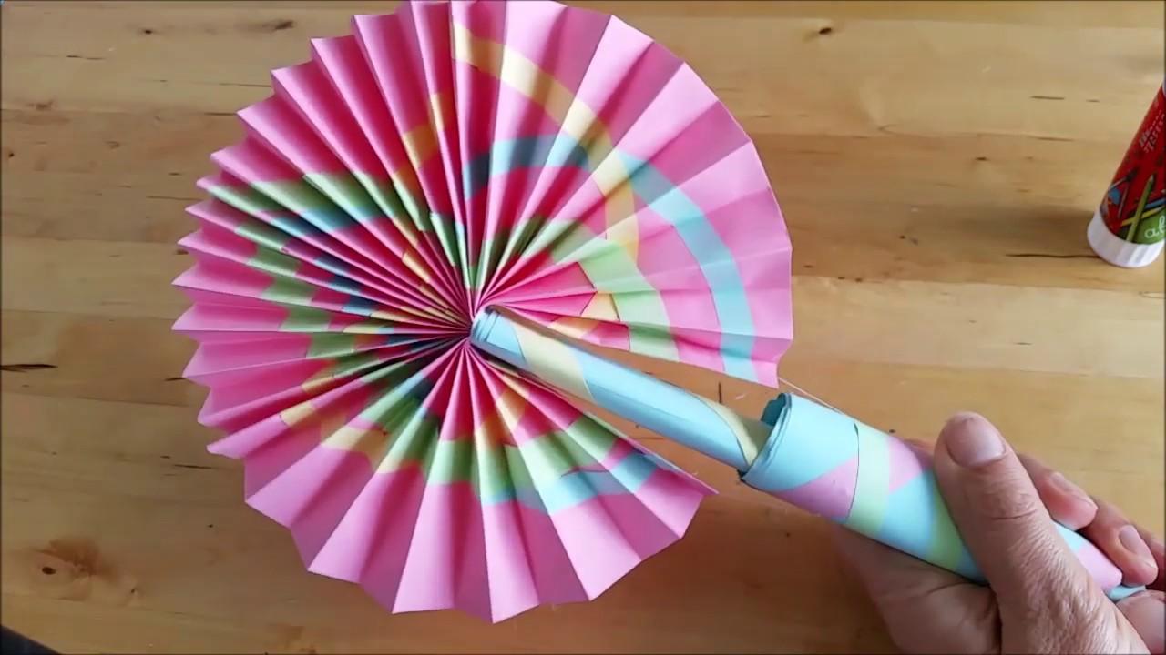 DIY: Веер из бумаги, который открывается и закрывается, своими руками. Поделки и подарки к лету