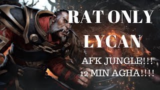 Lycan Jungle - RAT BUILD  - Dota 2 Gameplay