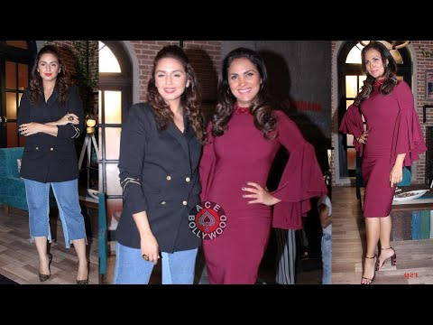 Gorgeous Huma Qureshi with Beautiful Lara Dutta  At The Special Episode Shoot Of Miss Diva 2017