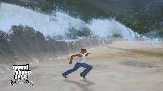 Сиджей убегает от мощного цунами в GTA San Andreas 😱