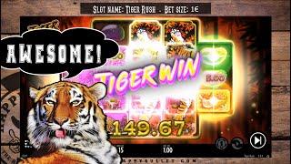 Tiger Rush - Online slot game - HUGE TIGER win * BONUS!