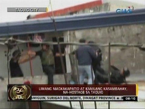 24 Oras: Limang magkakapatid at kanilang kasambahay, na-hostage sa Taguig