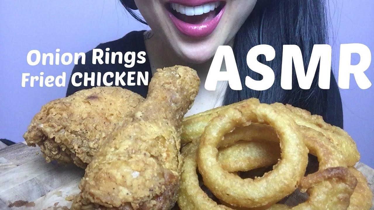 Asmr Fried Chicken Crunchy Onion Rings No Talking Eating Sounds Sas Asmr