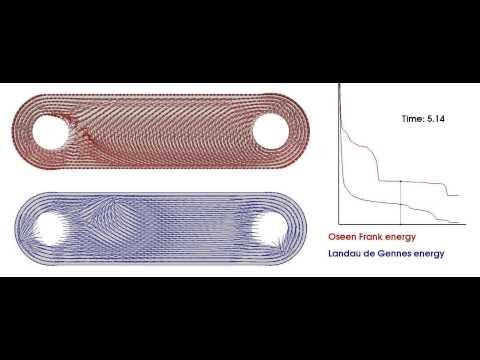 Comparing Oseen Frank and Landau de Gennes theory
