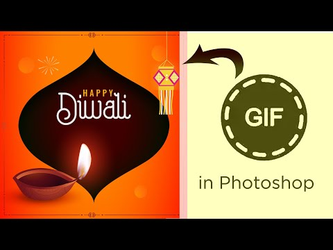 How To Make Diwali Gif Animation In Adobe Photoshop | Easy Step By Step Frame Animation
