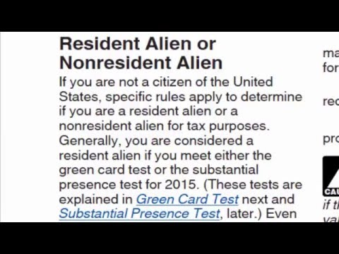 Income Tax Return for Non-Resident Aliens - 1040NR EZ - 2016