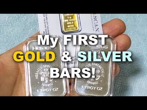 My FIRST Silver and Gold Bullion Bars! - 1oz Heraeus Silver & 5 grams PAMP Gold
