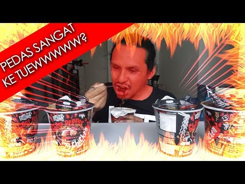 (BAHAYA!!) 5cup mamee Deabak Ghost Pepper noodle (mukbang malaysia)