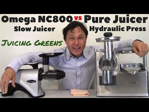 Omega NC800 vs Pure Hydraulic Press Juicer Comparison Review