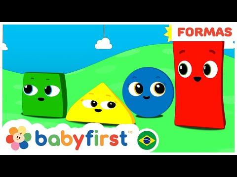 Aprenda As Cores E As Formas Geometricas   Desenhos Educativos   BabyFirst Brasil