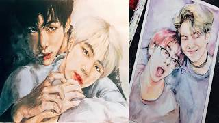 BTS fanart | as girls, vampires, bts ships etc