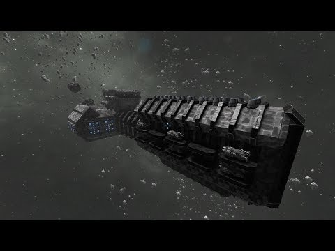 Space Engineers (Cinematic) - U.S.E. Osmium - Industrial Fleet Carrier / Mining Barge