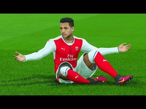 PES 2017 - ALEXIS SÁNCHEZ PIORADO !!! - Arsenal vs Atlético de Madrid (Gameplay PS4/XONE)