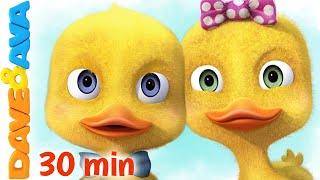 😋  Six Little Ducks and More Nursery Rhymes and Kids Songs | Dave and Ava 😋