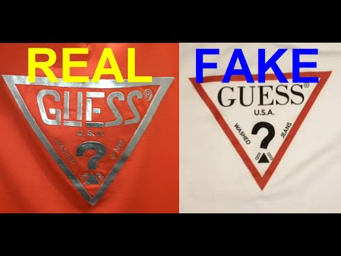 Real vs Fake Guess T shirt. How to spot fake Guess