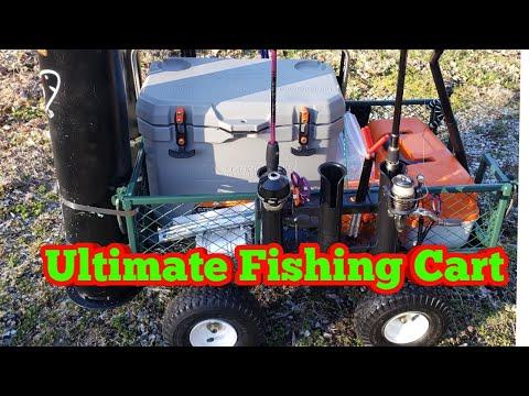 The Ultimate Fishing Cart Fishing Wagon,  How To Build, DIY, (Catfish, Carp & Beach Fishing)