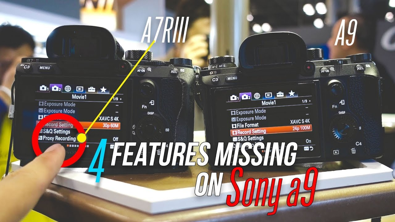 Sony a7RIII Features Missing on the Sony a9? (Picture