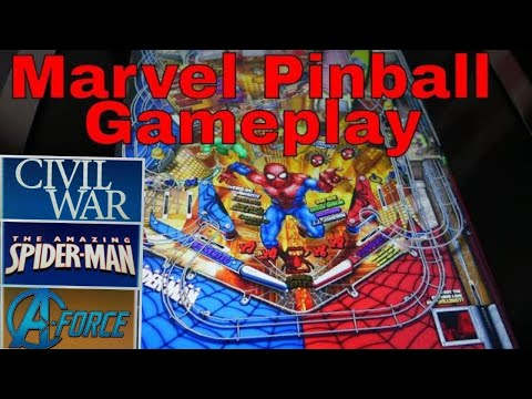 Arcade 1up Marvel Pinball Game play !!! from chuck kososky