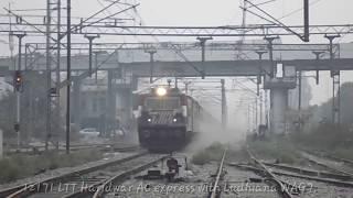 Ever seen a WAG7 on This speed? || 12171 LTT Haridwar AC express creating heavy dust-storm.