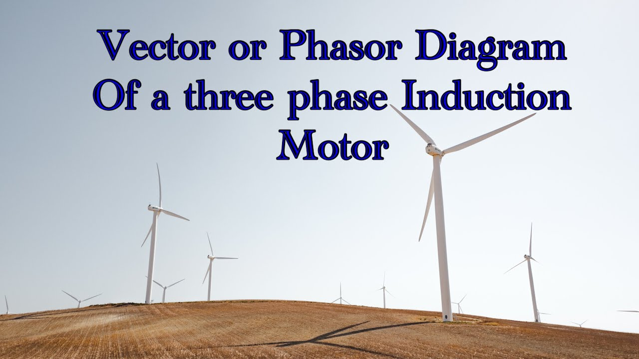 Vector Or Phasor Diagram Of A Three Phase Induction Motor