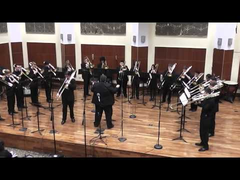 Trombone Choir Performs Aria and Dance with Jeremy Moeller - Merit School of Music Performathon 2013