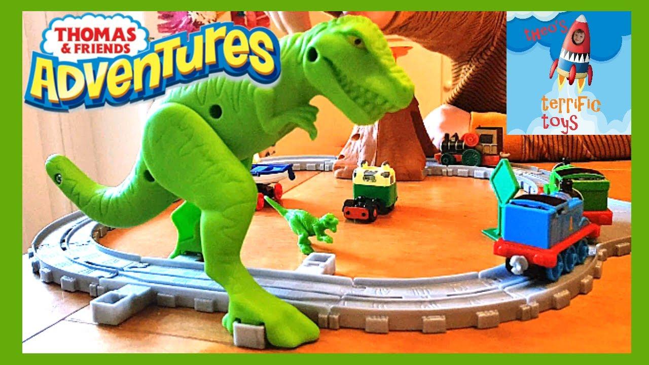 Thomas /& Friends Adventures Dino Discovery Train Set-Nouveau Fisher Price