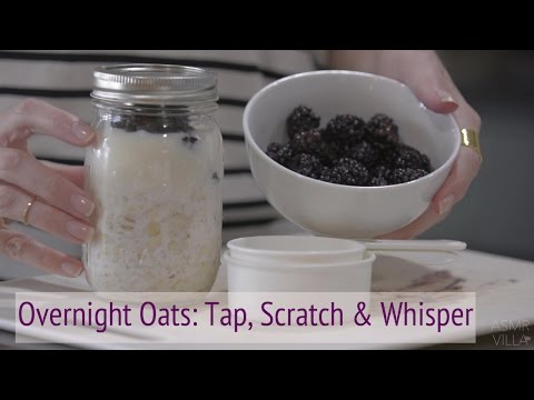 ASMR * Overnight Oats * Whisper, Tapping & Scratching * cooking * Fast Tapping * ASMRVilla