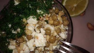 Салат с консервированным горошком и сыром....САЛАТ ИЗ ДОСТУПНЫХ ПРОДУКТОВ!!!