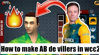 Wie man AB de villers Gesicht in wcc2 || Must watch