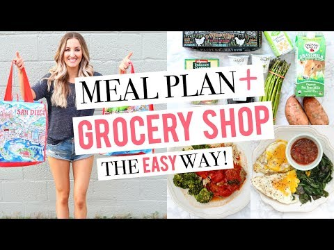 EASIEST WAY TO MEAL PLAN | Plan & Shop With Me | 1 Week of Healthy Meals!