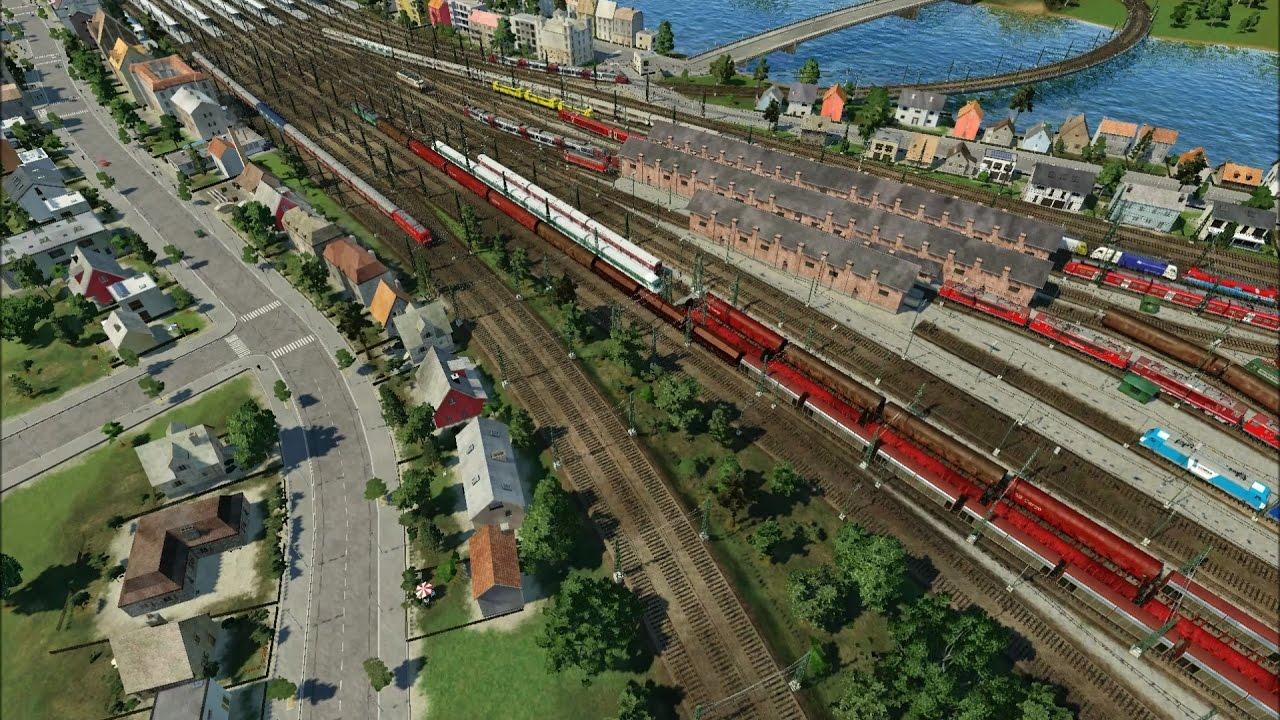 Uma mega estação de caminho-de-ferro em Transport Fever