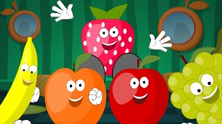 Five Little Fruits | Nursery Rhyme